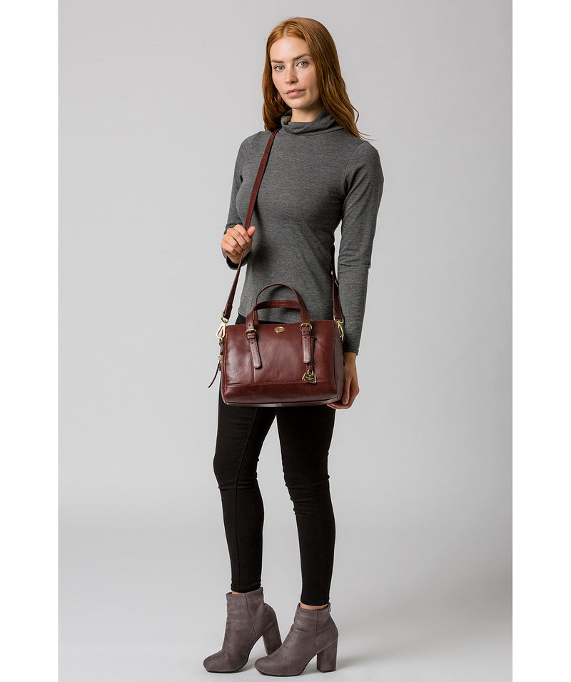 'Iris' Chestnut Leather Handbag image 2
