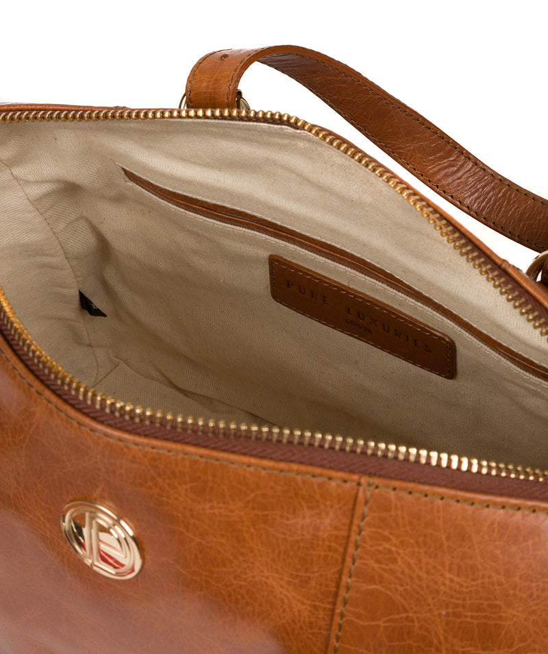 'Iris' Hazelnut Leather Handbag image 4