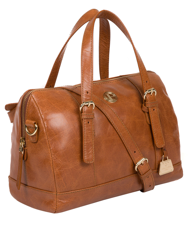 'Iris' Hazelnut Leather Handbag image 5