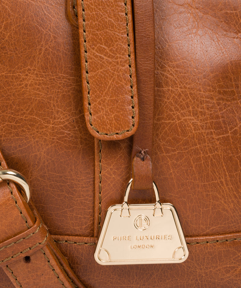 'Iris' Hazelnut Leather Handbag image 6