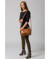 'Iris' Hazelnut Leather Handbag image 2