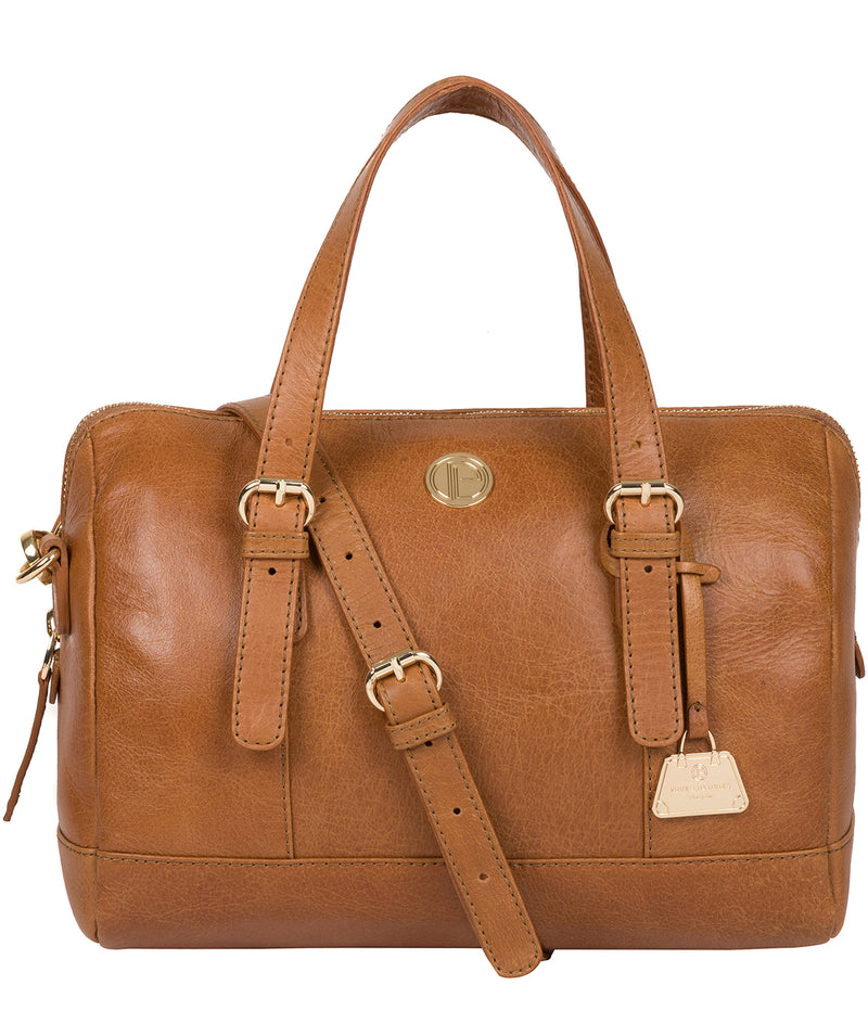'Iris' Saddle Tan Leather Handbag image 1
