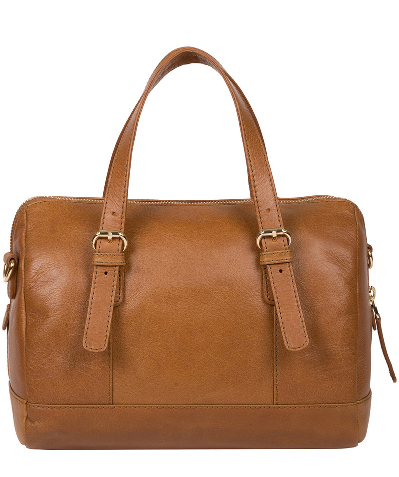 'Iris' Saddle Tan Leather Handbag image 3