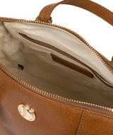 'Iris' Saddle Tan Leather Handbag image 4