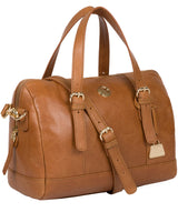'Iris' Saddle Tan Leather Handbag image 5