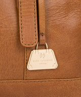 'Iris' Saddle Tan Leather Handbag image 6