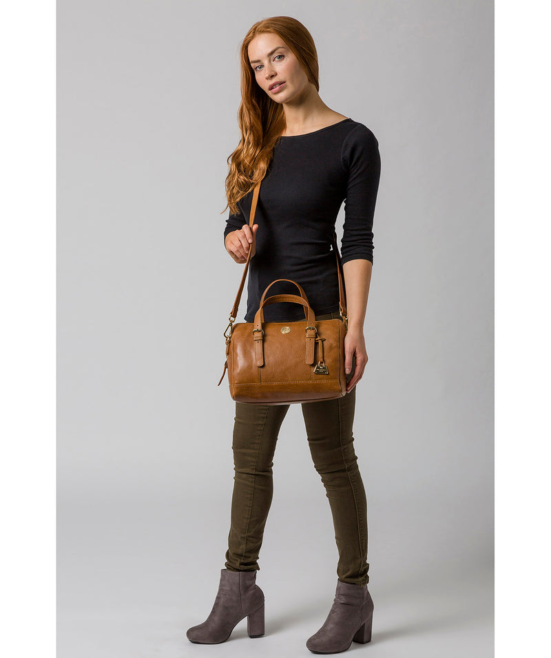 'Iris' Saddle Tan Leather Handbag image 2