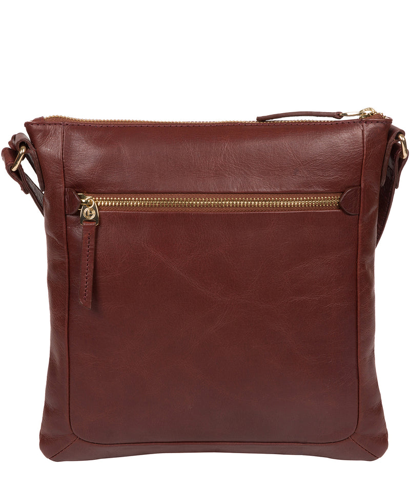 'Lotus' Chestnut Leather Cross Body Bag image 3