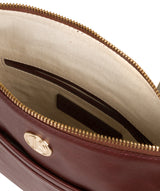'Lotus' Chestnut Leather Cross Body Bag image 4