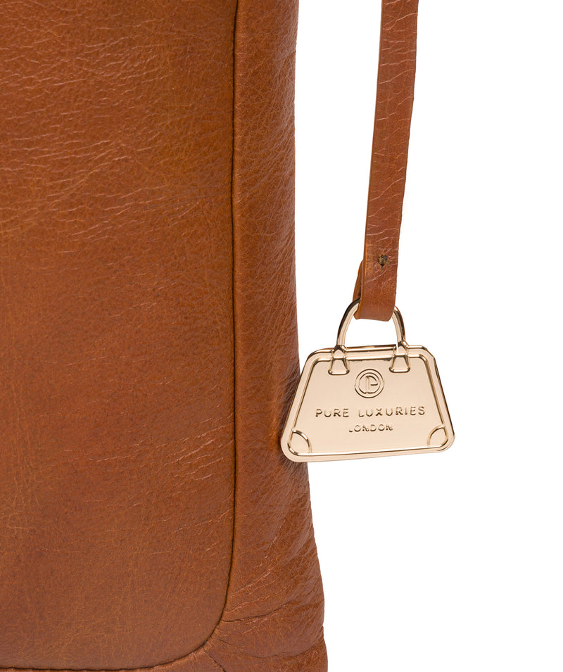 'Lotus' Hazelnut Leather Cross Body Bag image 6