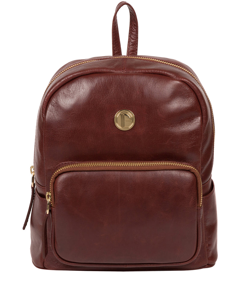 'Cora' Chestnut Leather Backpack image 1