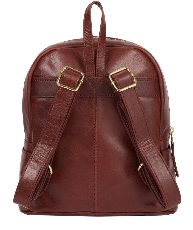 'Cora' Chestnut Leather Backpack image 3