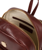 'Cora' Chestnut Leather Backpack image 4