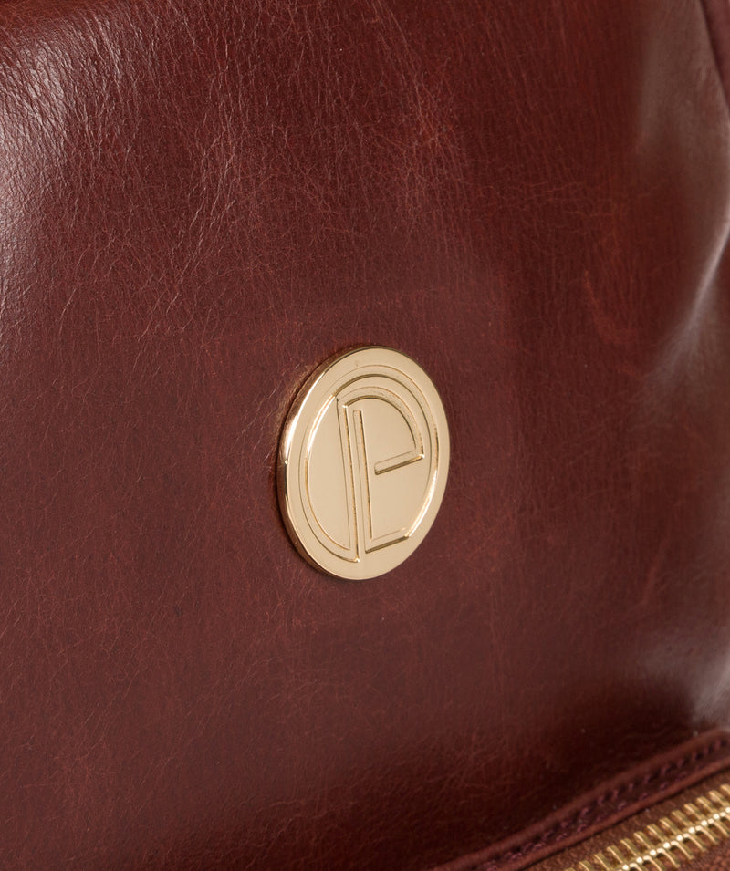 'Cora' Chestnut Leather Backpack image 6