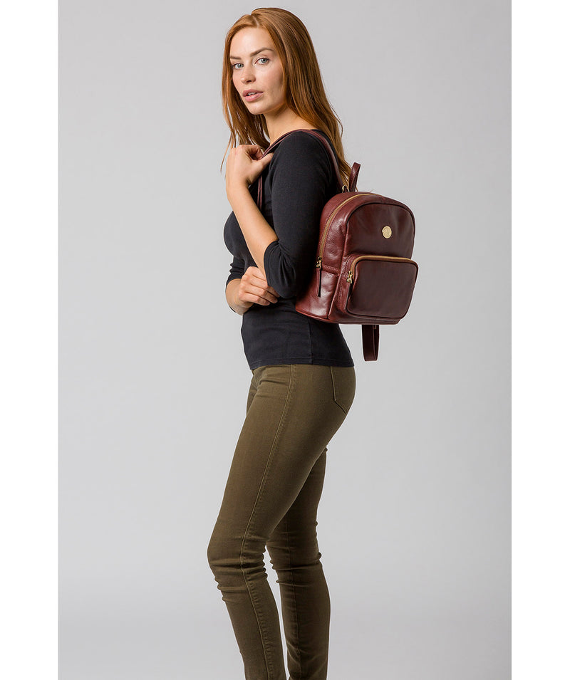 'Cora' Chestnut Leather Backpack image 2