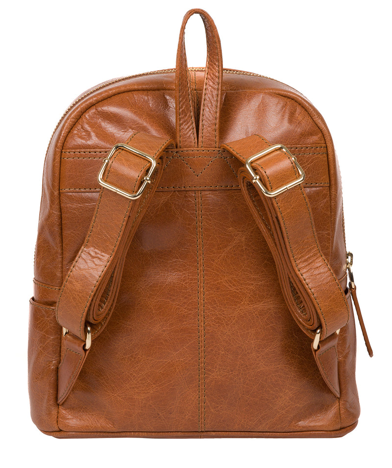 'Cora' Hazelnut Leather Backpack image 3