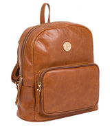 'Cora' Hazelnut Leather Backpack image 5