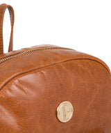 'Cora' Hazelnut Leather Backpack image 6
