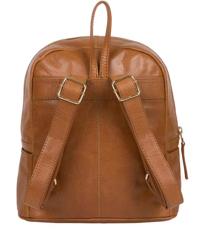 'Cora' Saddle Tan Leather Backpack image 3