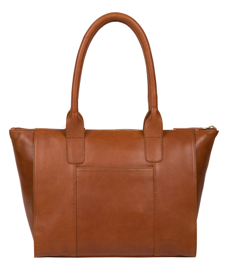 'Primrose' Hazelnut Leather Tote Bag image 3