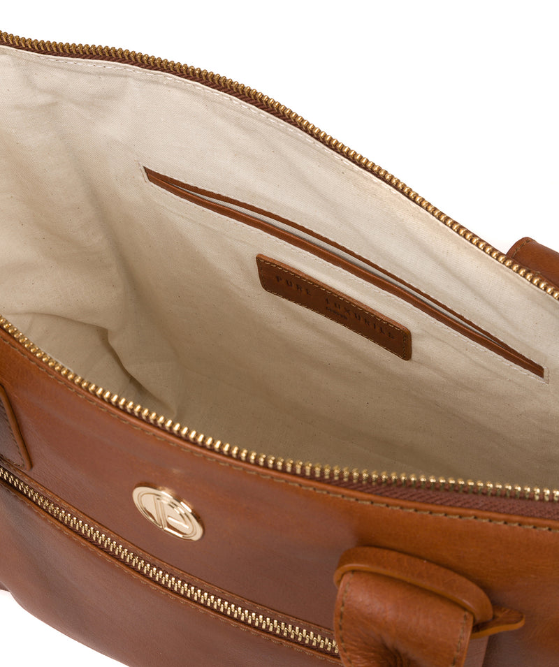 'Primrose' Hazelnut Leather Tote Bag image 4