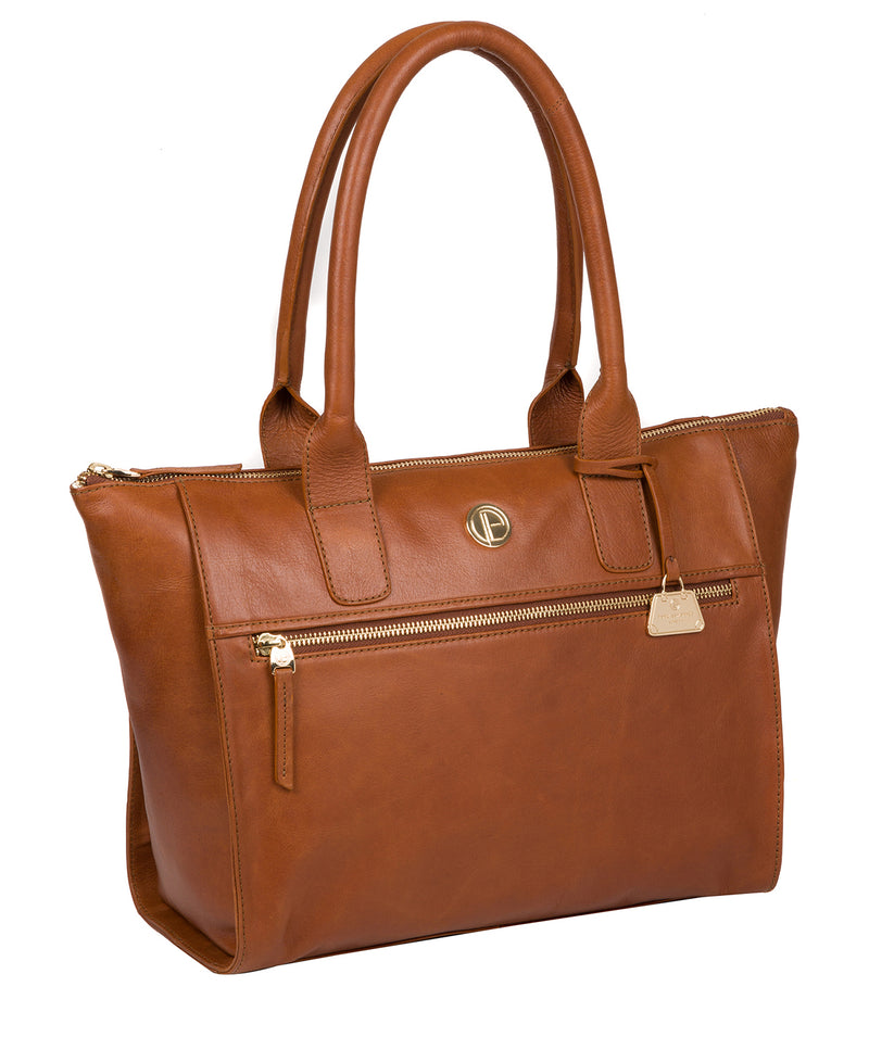 'Primrose' Hazelnut Leather Tote Bag image 5