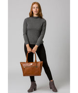 'Primrose' Hazelnut Leather Tote Bag image 2