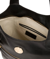 'Mimosa' Jet Black Leather Tote Bag image 4