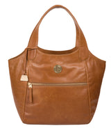 'Mimosa' Saddle Tan Leather Tote Bag image 1