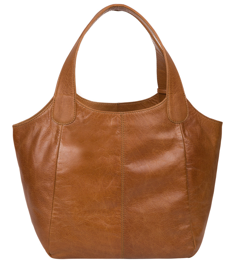 'Mimosa' Saddle Tan Leather Tote Bag image 3