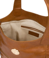 'Mimosa' Saddle Tan Leather Tote Bag image 4