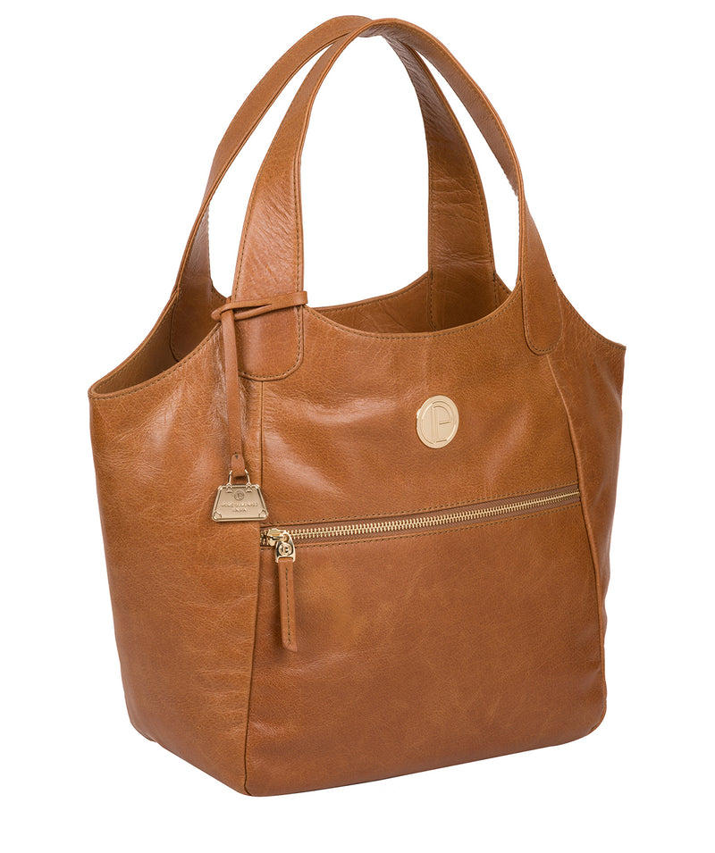 'Mimosa' Saddle Tan Leather Tote Bag image 5