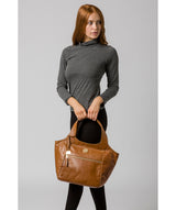 'Mimosa' Saddle Tan Leather Tote Bag image 2