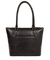 'Violet' Jet Black Leather Tote Bag image 3