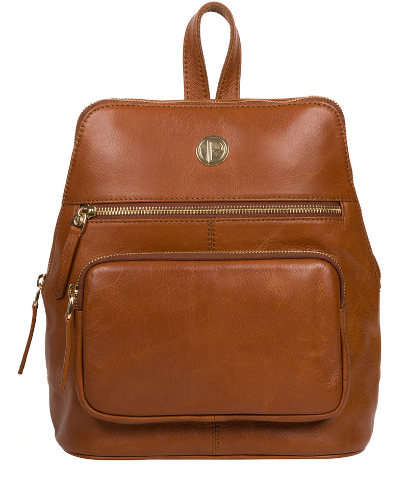 'Verbena' Hazelnut Leather Backpack image 1