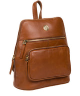 'Verbena' Hazelnut Leather Backpack image 5