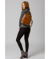 'Verbena' Hazelnut Leather Backpack image 2