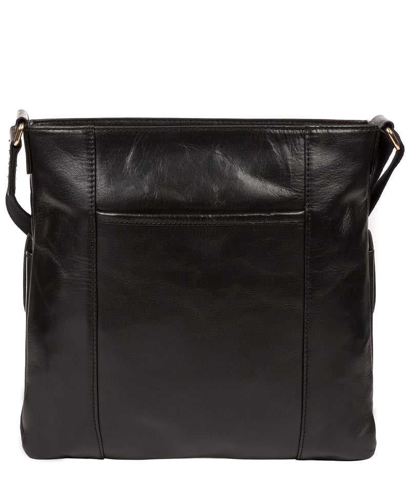 'Azalea' Jet Black Leather Cross Body Bag image 3