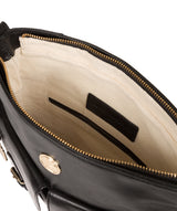 'Azalea' Jet Black Leather Cross Body Bag image 4