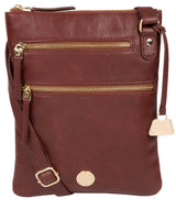 'Gardenia' Chestnut Leather Cross Body Bag image 1