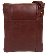 'Gardenia' Chestnut Leather Cross Body Bag image 3