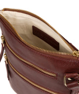 'Gardenia' Chestnut Leather Cross Body Bag image 4