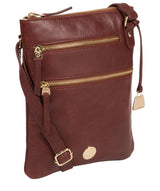 'Gardenia' Chestnut Leather Cross Body Bag image 5