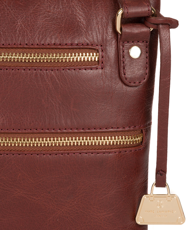 'Gardenia' Chestnut Leather Cross Body Bag image 6