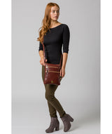 'Gardenia' Chestnut Leather Cross Body Bag image 2