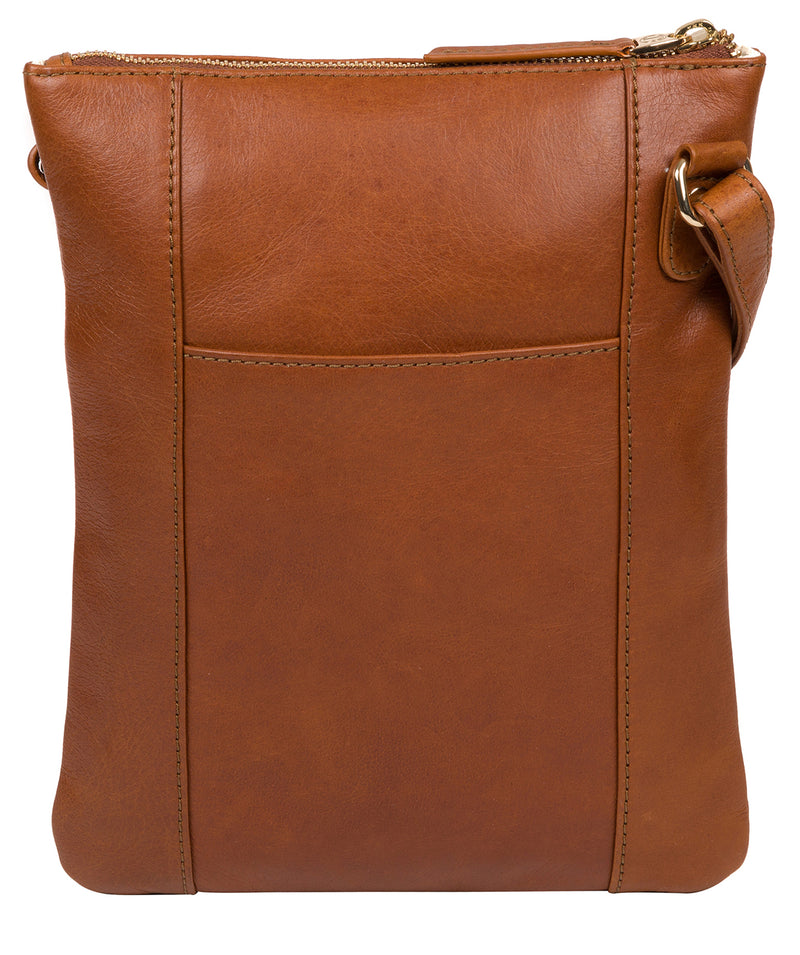 'Gardenia' Hazelnut Leather Cross Body Bag image 3