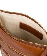 'Gardenia' Hazelnut Leather Cross Body Bag image 4