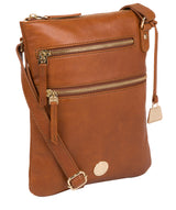 'Gardenia' Hazelnut Leather Cross Body Bag image 5