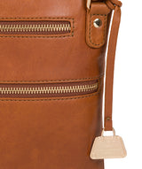 'Gardenia' Hazelnut Leather Cross Body Bag image 6