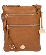 'Gardenia' Saddle Tan Leather Cross Body Bag image 1